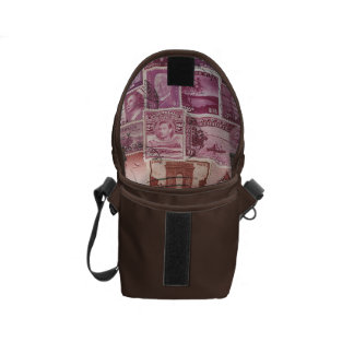 Pink Dusk Ombre Small Travel Bag, Stamp Art Commuter Bags