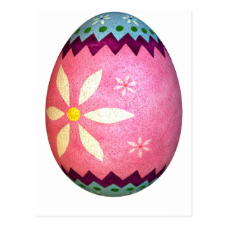 Pink Dyed Daisy Easter Egg Postcard