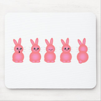 Pink Easter Bunnies Mouse Mat