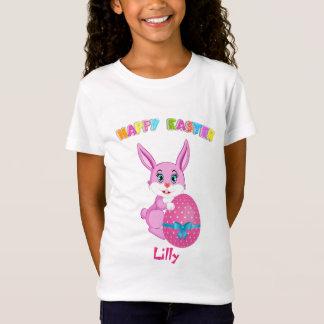 Pink Easter Bunny Cartoon T-Shirt