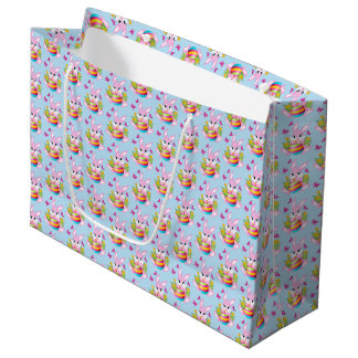 Pink Easter Bunny Large Gift Bag