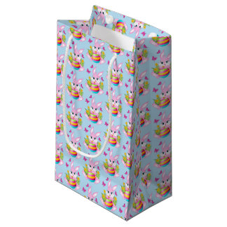 Pink Easter Bunny Small Gift Bag