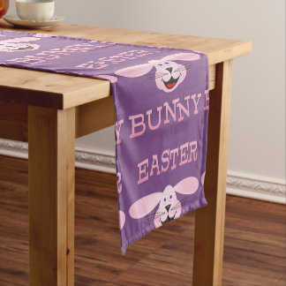 Pink Easter Bunny Table Runner