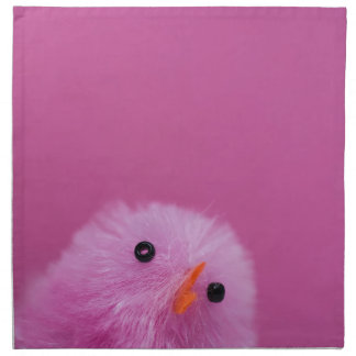 Pink Easter chick Napkin