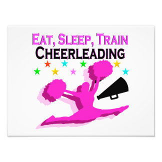 PINK EAT SLEEP TRAIN CHEERLEADING PHOTO