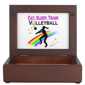 PINK EAT, SLEEP, TRAIN VOLLEYBALL KEEPSAKE BOXES