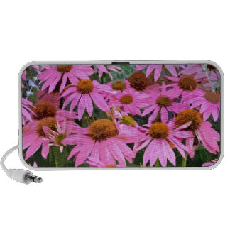 Pink echinacea abstract floral design notebook speaker