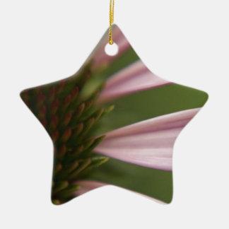 Pink Echinacea Coneflower Blossom Macro Christmas Ornament