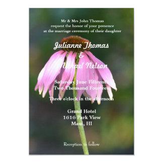 "Pink Echinacea 5"" X 7"" Invitation Card"