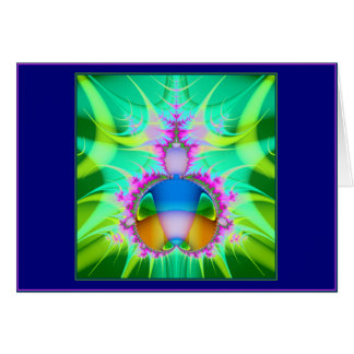pink-edged flame greeting card