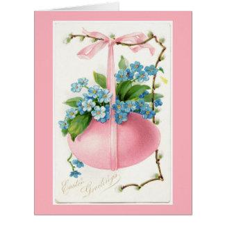 Pink Egg and Flowers Easter Big Greeting Card
