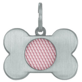 Pink Eggshell Background Pet Tags