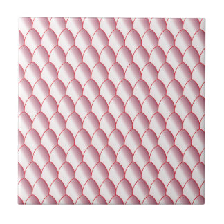 Pink Eggshell Background Small Square Tile