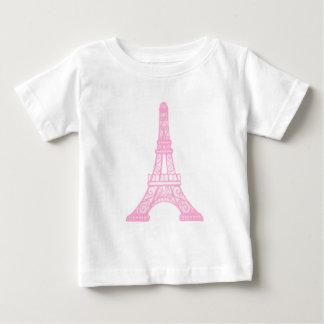 Pink Eiffel Tower Baby T-Shirt