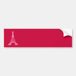 Pink Eiffel Tower Car Bumper Sticker