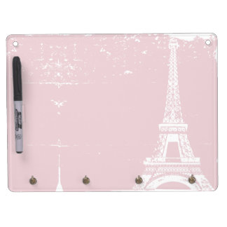 Pink Eiffel Tower Dry-Erase Boards