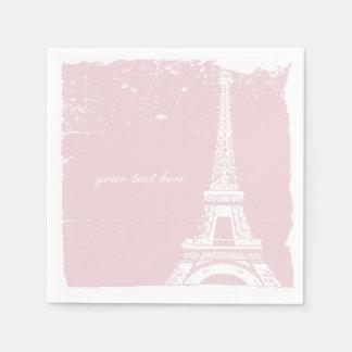 Pink Eiffel Tower Paper Napkin Set