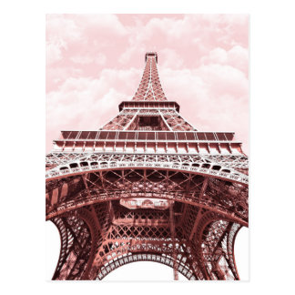 Pink Eiffel Tower Postcard
