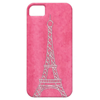 Pink Eiffel Tower watercolor iPhone/iPad case