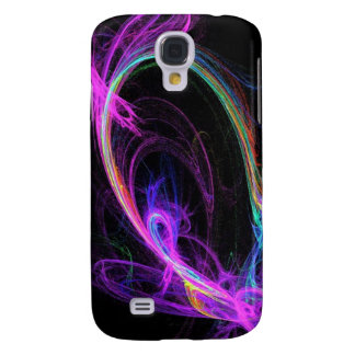 Pink Electric Fractal Galaxy S4 Case