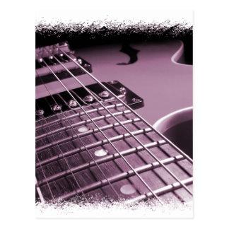 Pink Electric Guitar Close-up Postcard