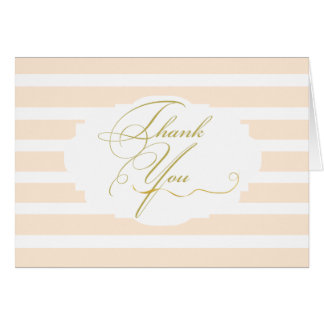 Pink Elegance Thank You Cards
