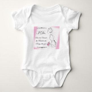 Pink elegant Bachelorette Party Design Baby Bodysuit