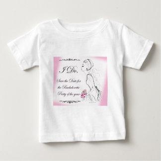 Pink elegant Bachelorette Party Design Baby T-Shirt