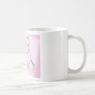 Pink elegant Bachelorette Party Design Basic White Mug
