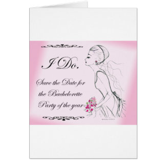 Pink elegant Bachelorette Party Design Greeting Card