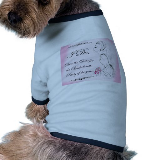 Pink elegant Bachelorette Party Design Doggie T-shirt