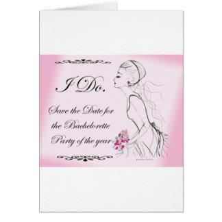 Pink elegant Bachelorette Party Design Greeting Card