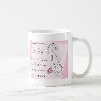 Pink elegant Bachelorette Party Design Mug