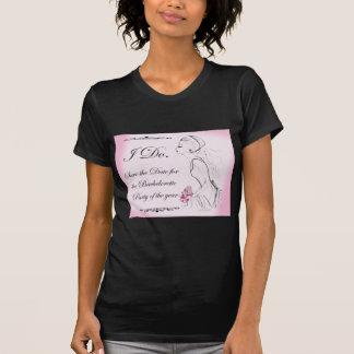 Pink elegant Bachelorette Party Design T-Shirt