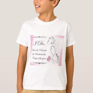 Pink elegant Bachelorette Party Design Tshirts