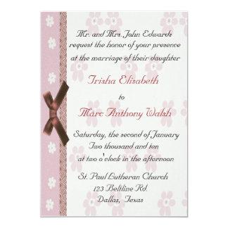 Pink Elegant Wedding Invitation