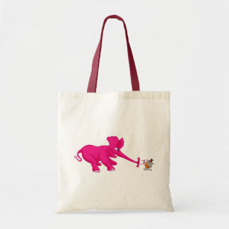 Pink Elephant and the Circus Strong Cat Tote Bag