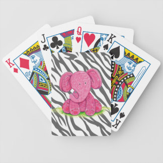 Pink Elephant Bicycle Playing Cards