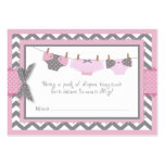 Pink Elephant Bird and Diaper Raffle Ticket Pack Of Chubby Business Cards