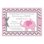 Pink Elephant Bird Bring a Book Card Pack Of Chubby Business Cards