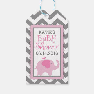 Pink Elephant Bird Chevron Baby Shower