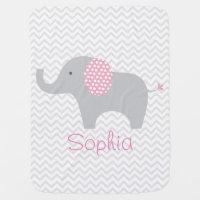 Elephant Personalized Baby Blanket