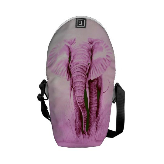 PINK elephant Courier Bag