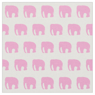Pink Elephant Fabric, Children's Fabric