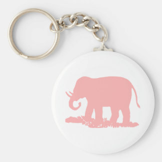 Pink Elephant Key Ring