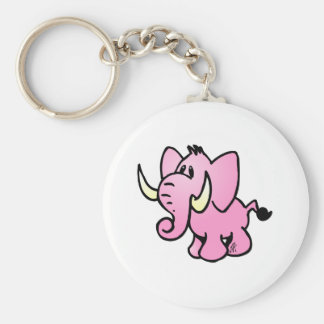 Pink Elephant Keychains