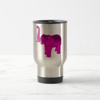Pink Elephant Stainless Steel Travel Mug