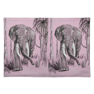 Pink Elephant Placemats