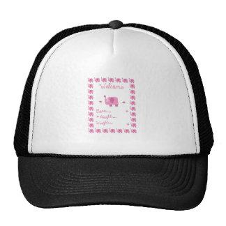 Pink Elephant Pregnancy Announ Trucker Hat