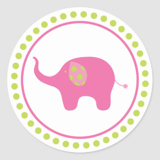 Pink Elephant Sticker